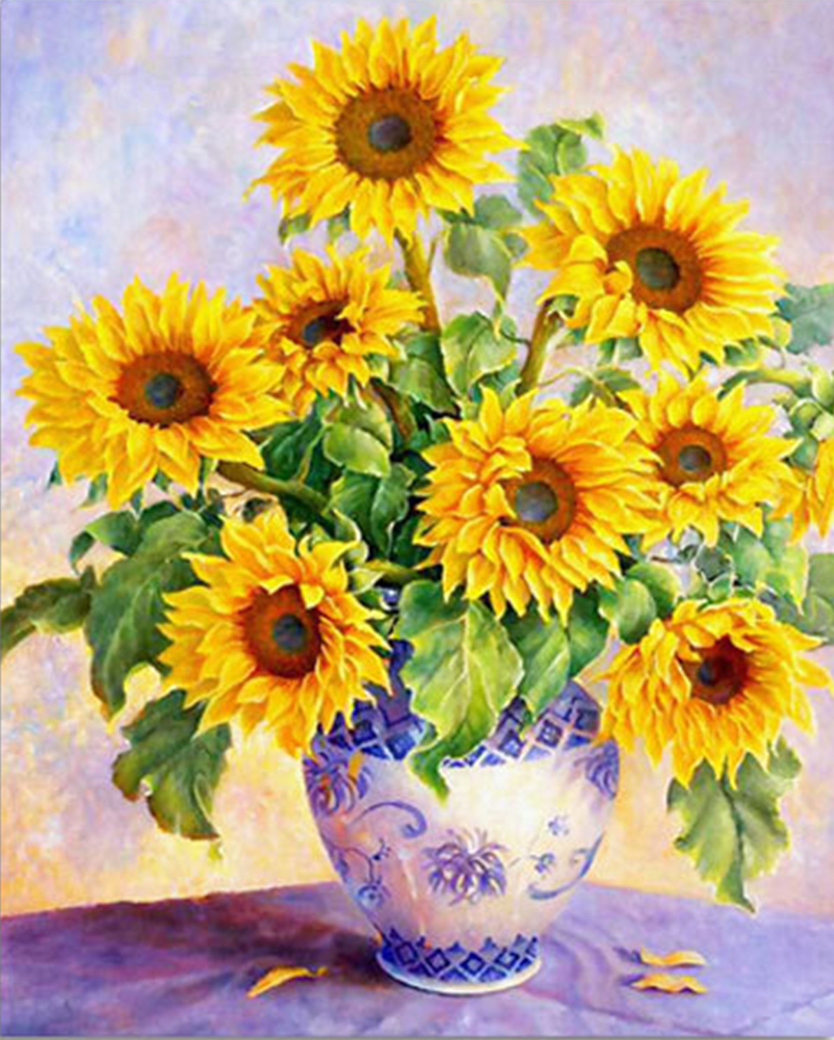 Blooming Sunflower Vase
