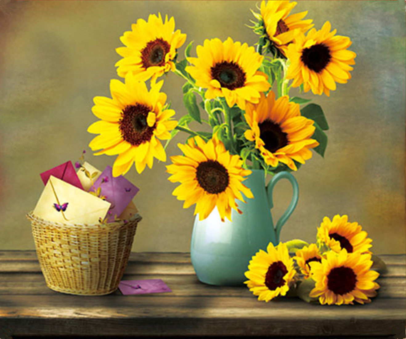 Warm Sunflower Vase