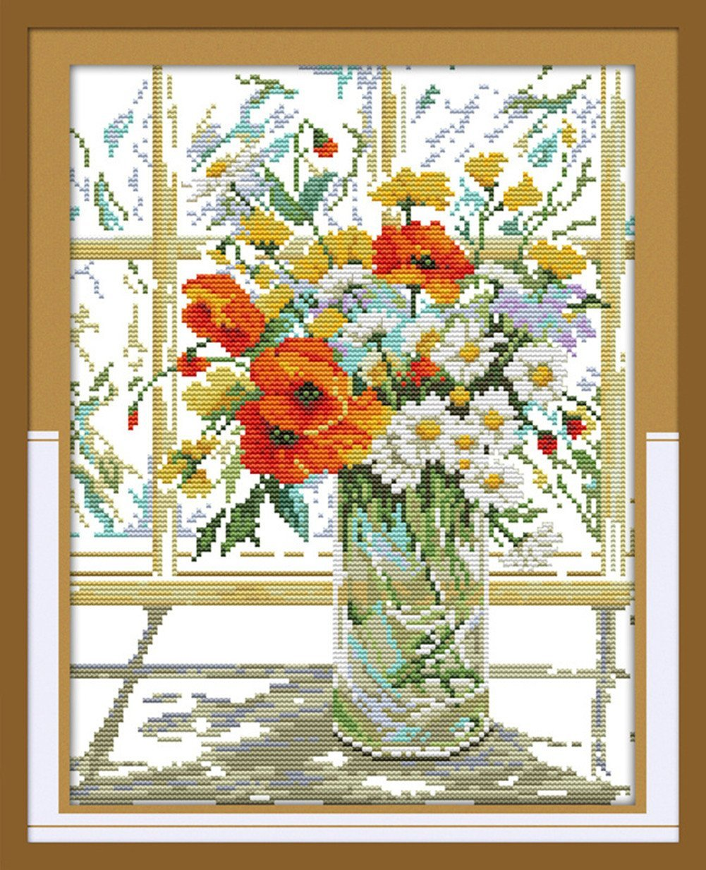 Flower Vase On Windowsill
